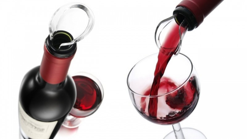 Wijny, Vacu Vin Wine Server Crystal Box