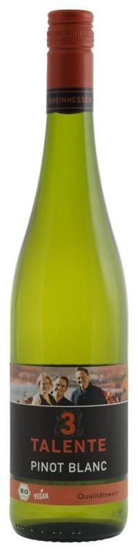 3 Talente BIO Vegan Pinot Blanc Witte wijn Duitsland